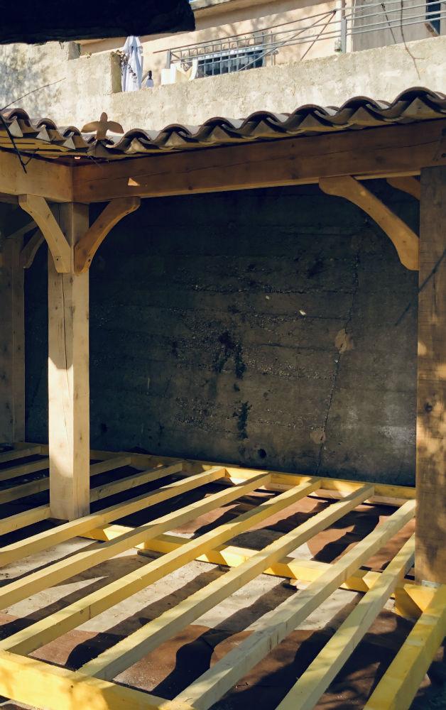 structure plancher bois