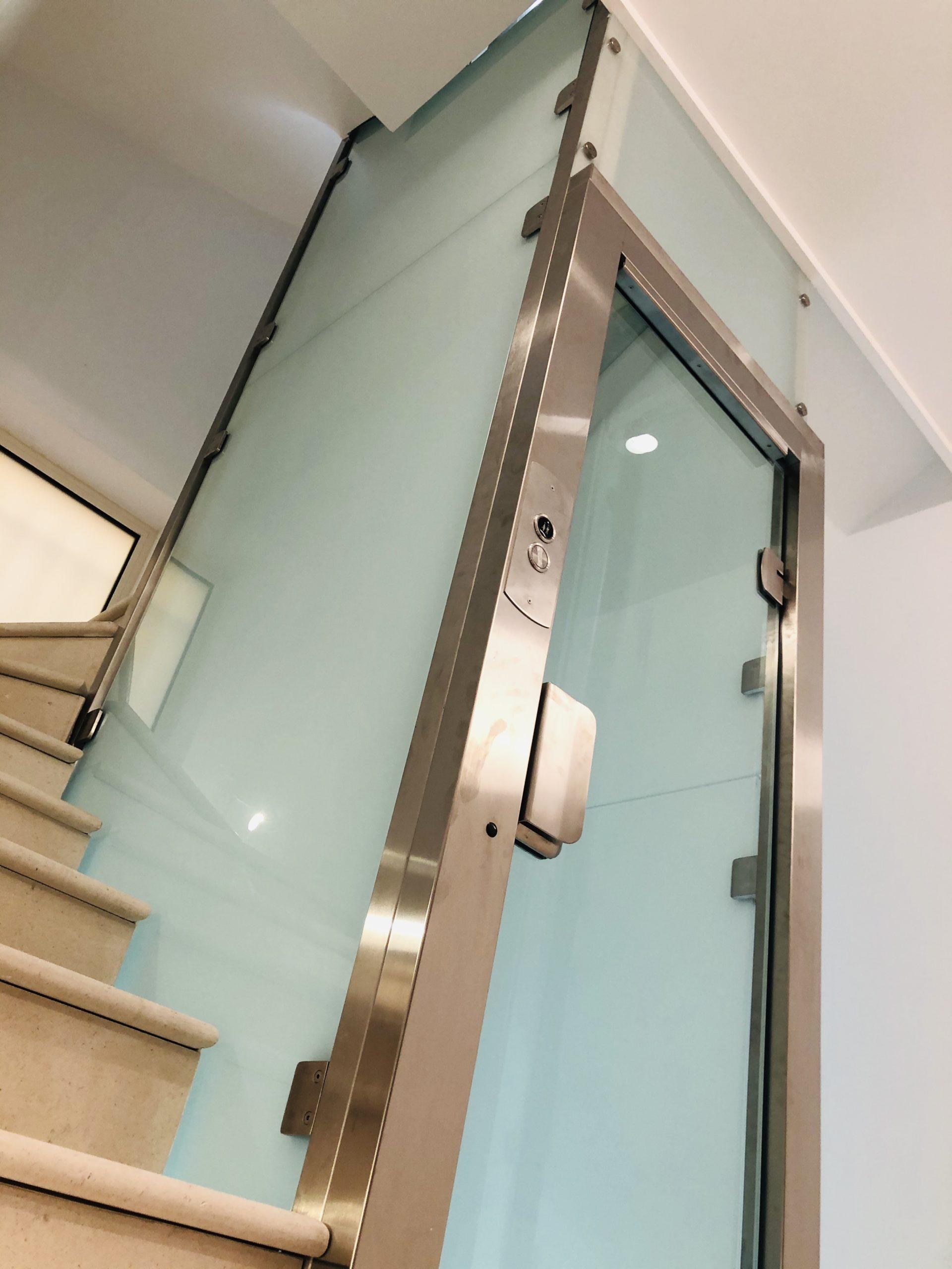 ascenseur habillage verre