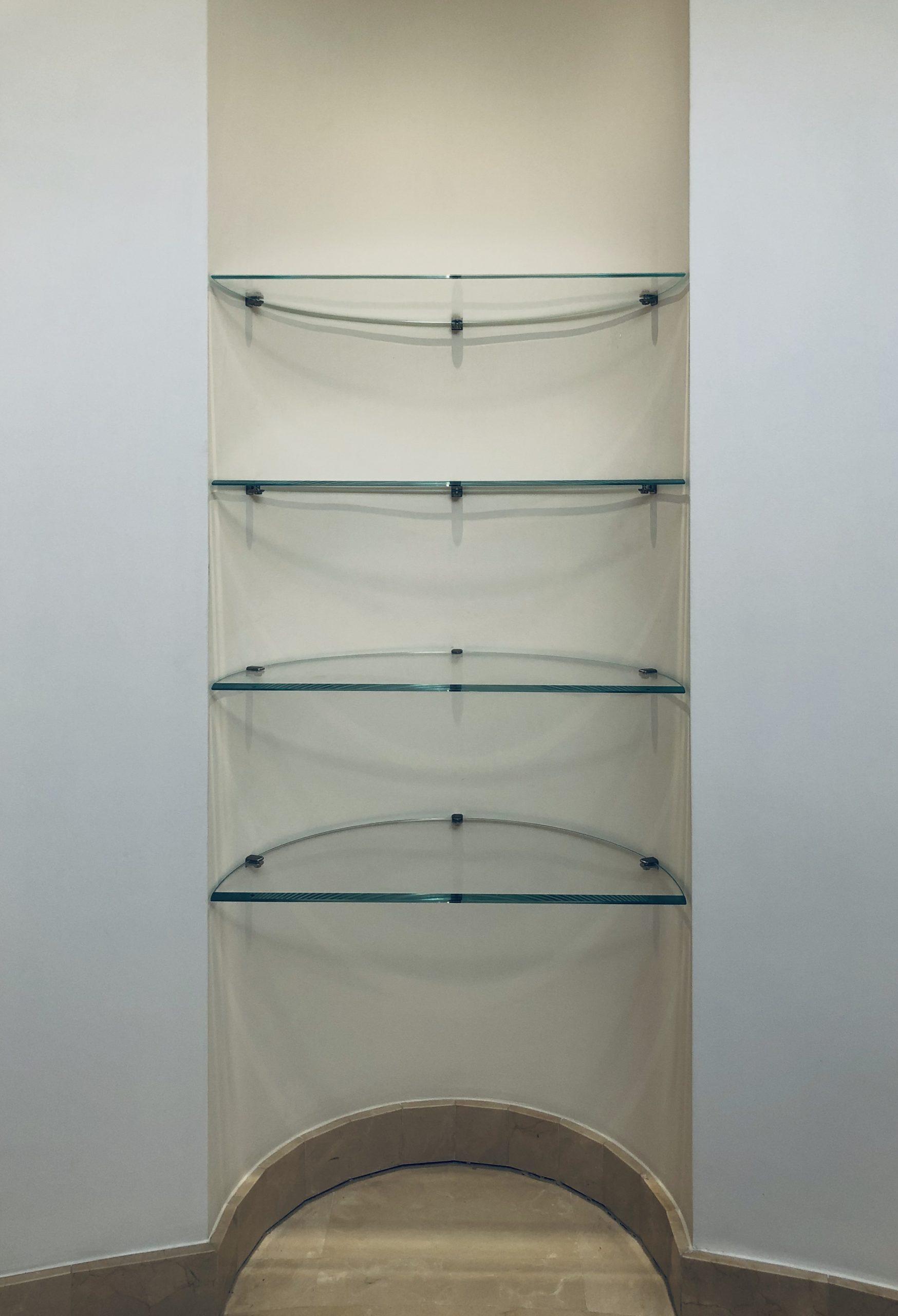 etagere verre trempe en forme